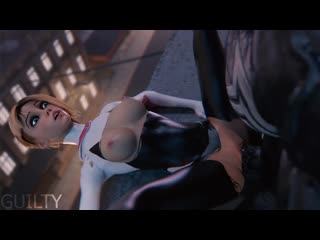 Spider-Gwen x Venom (Xray) - [UNCENSORED / без цензуры] (3D porn / hentai / Rule34)