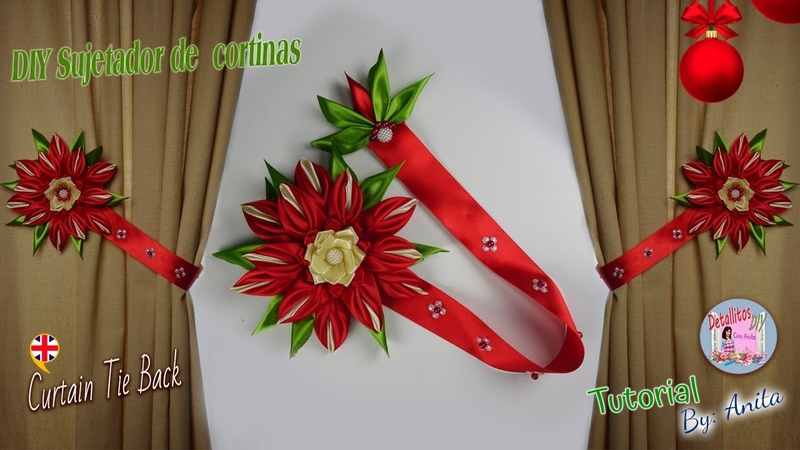 DIY sujetador de cortinas para navidad