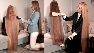 RealRapunzels | Two Rapunzel's Brushing Each Others Very Long Hair