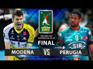 Highlights modena vs. perugia final 2019 italian super cup