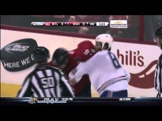 Brandon Prust vs Matt Hendricks Jan 24, 2013