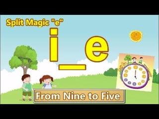 "Split Vowel Magic ""e"" | i_e | Reader: From Nine to Five | Go Phonics 2C Unit 18"