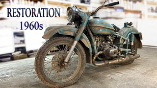 Реставрация мотоцикла УРАЛ | Old Soviet motorcycle full Restoration
