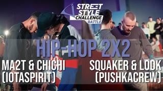 Squaker&Look(pushkacrew) vs Ma2t&ChiChi(iotaspirit) | Hip-Hop 2x2 Final | Street Style Battle 2k20