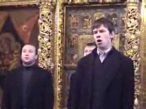 Russian Orthodox Choir Sacred Russian singing Chesnokov's Gabriel Appeared Eternal Counsel