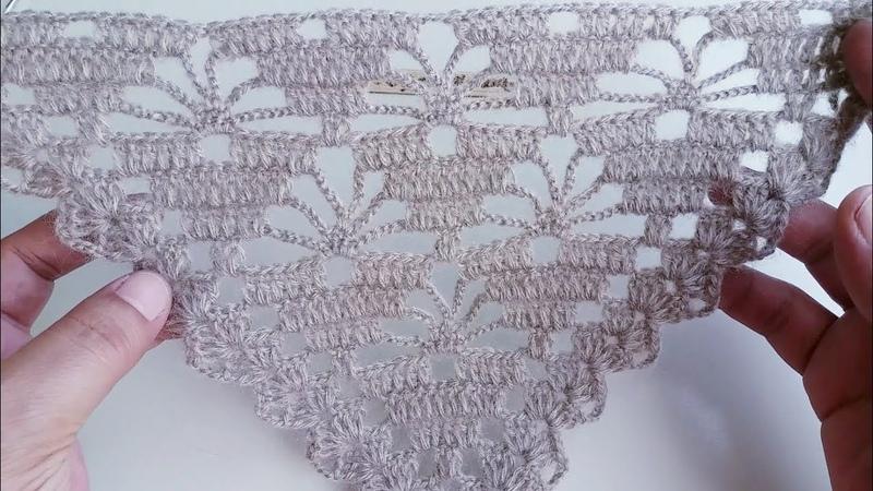 Güzelliğinize güzellik kalatacak yeni model örgü üçgenşal orguyolum crochetshawl şal