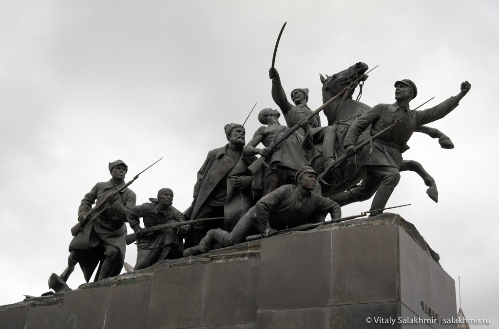 Памятник Чапаеву, Самара 2020