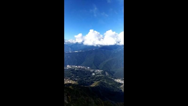 красная поляна Роза пик высота 2320 метров