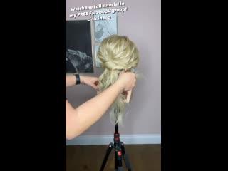 Видео урок по пучку в бохо стиле