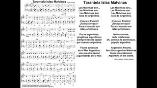 Tarantela Islas Malvinas en Piano Alfredo Figueras Partituras Gratis Argentina