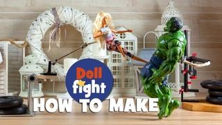 Как я снимал: Барби против Халка. Стоп моушен анимация.