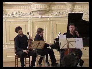 Ilya Gringolts, Dmitry Kouzov, Peter Laul play Tchaikovsky Trio 2nd mvt. Part 1
