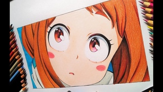 Drawing -Uraraka Ochako step by step (Boku No Hero Academia)