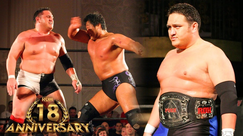 3 BRUTAL Samoa Joe Matches in ROH ROH 18th Anniversary Collection