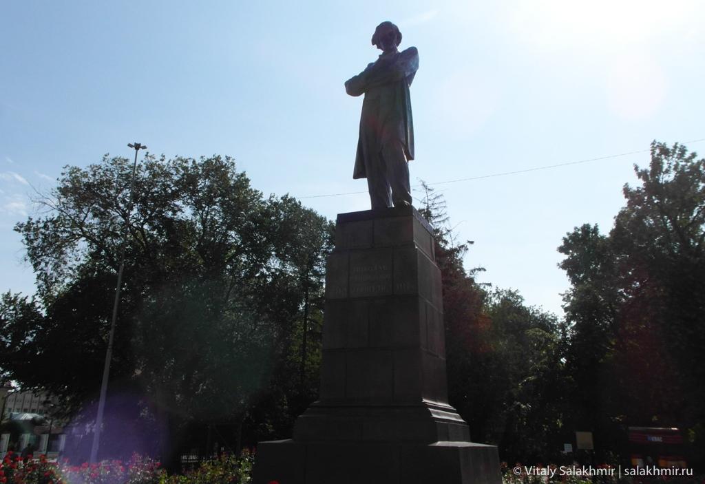Памятник Чернышевскому на площади 2020