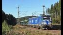 Hupac Taurus mit Classic Courier MEG 218 Messzug Twindexx Makro uvm auf der Frankenwaldbahn