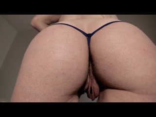 Big pussy lips and hairy ass mature clit rubbing