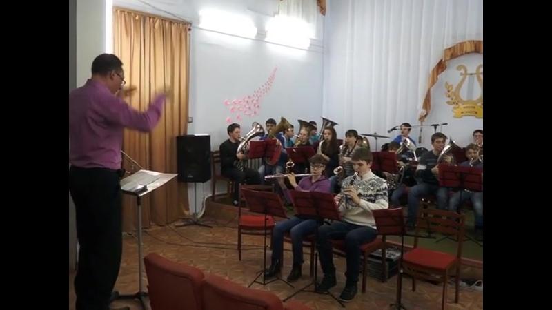 Языковский детский духовой оркестр Лира. Марш березанский