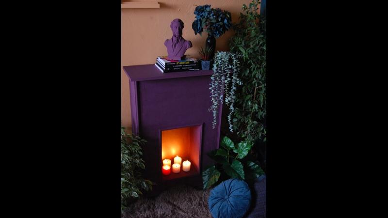 Как создать имитацию огня в фальшь камине