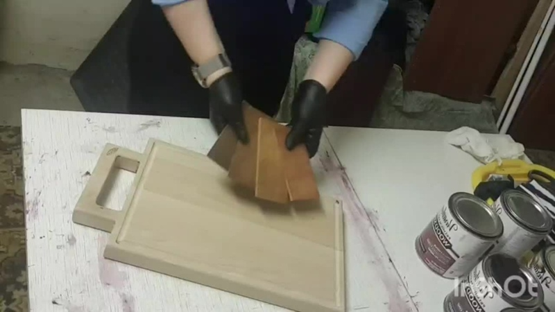 процесс покрытия маслом