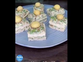 Куриные пирожные с грибной начинкой (ингредиенты в описании видео)