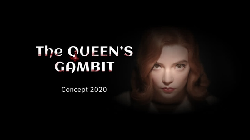 Landing page. Concept of the Queens Gambit miniseries - designer Catherine Melnik