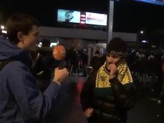 Ярый болельщик ФК Анжи из Дагестана