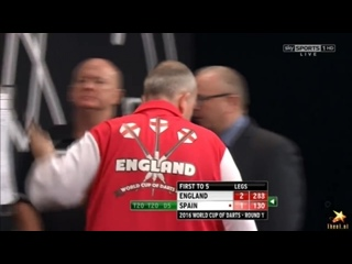 England vs Spain (PDC World Cup of Darts 2016 / First Round)