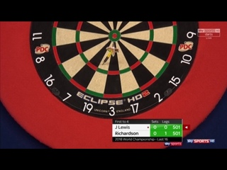 Jamie Lewis vs James Richardson (PDC World Darts Championship 2018 / Round 3)