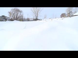 Свалка токсичного снега под Казанью