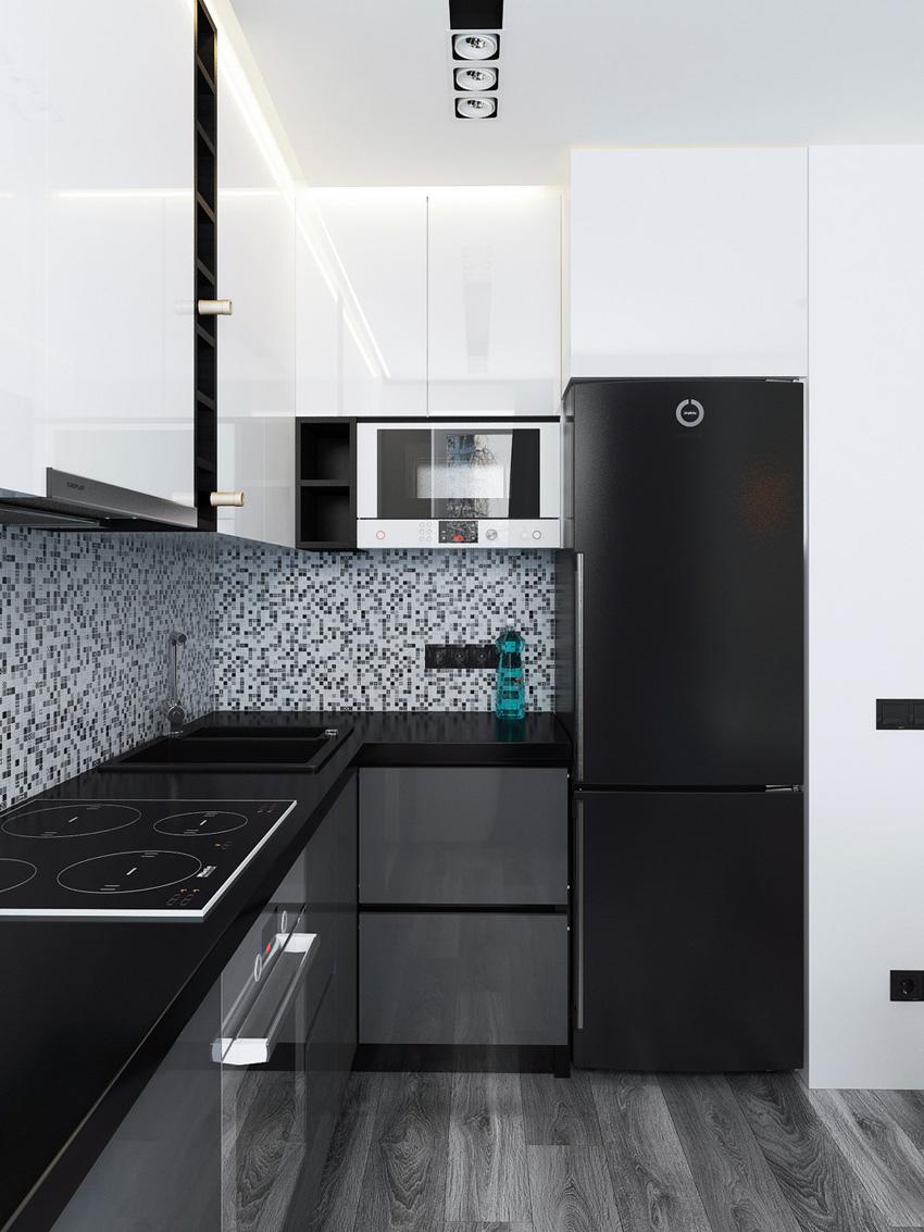 Проект квартиры-студии 39,5 м.