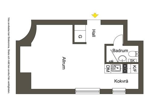 Скандинавская квартира-студия 24 м.