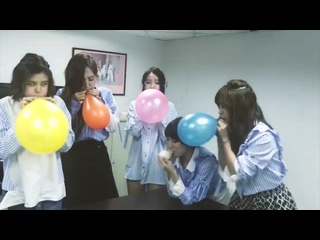 Cute asian girls blow to pop race with balloon punishment