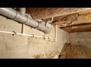 Монтаж водопровода и канализации в дачном доме.