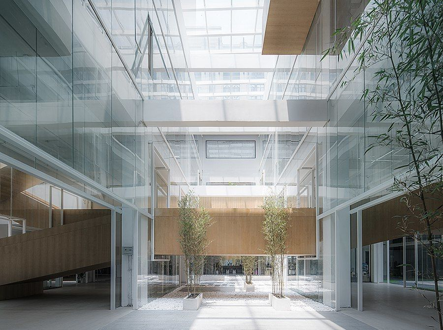 LYCS architecture converts chinese textile warehouse into multi-purpose office building