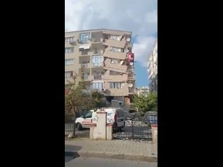 Heavy damage in Izmir Turkey from the destructive earthquake that hit 3rd largest city in .mp4