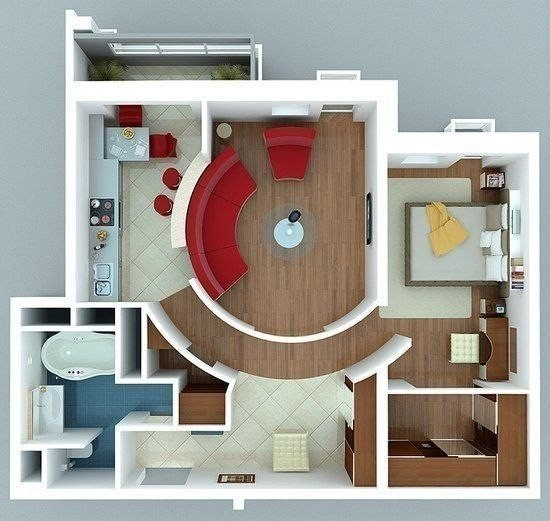Идея перепланировки двухкомнатной квартиры