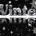 Новогодние, рождественские и зимние алфавиты и надписи для веб-дизайна