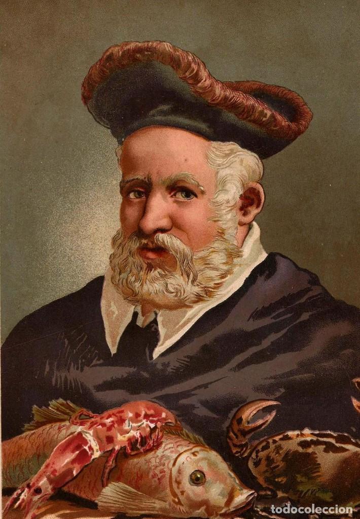 Веселый Ронделе со своими любимыми рыбами и морскими гадами. Иллюстрация из альбома середины 19 века.