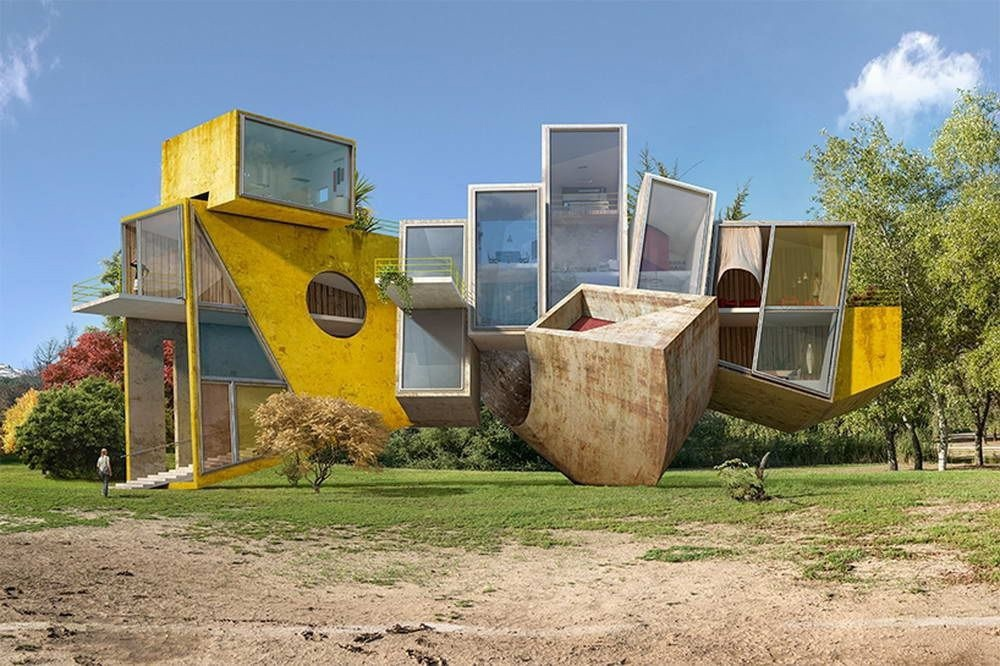 Сюрреалистические архитектурные видения Дионисио Гонсалеса