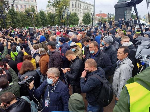 В центре Москвы КПРФ проводит несогласованную акци...