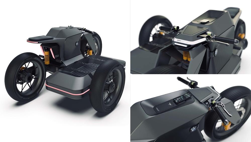 Концепт электрического сайдкара BMW
