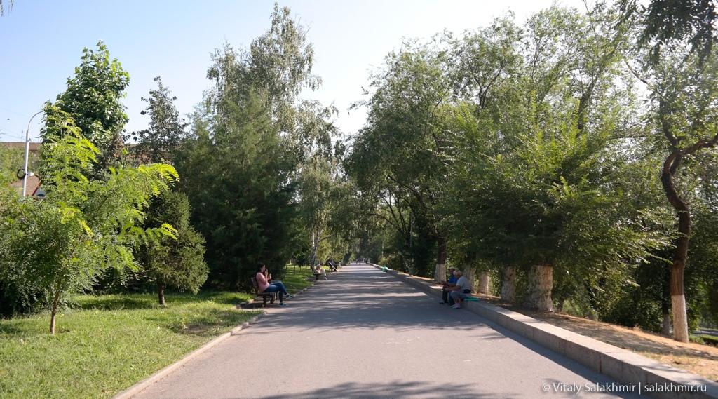 Прогулка по Парку Победы в августе 2020