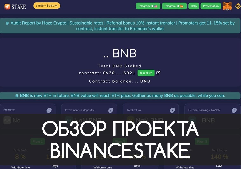 Обзор и отзывы о проекте BinanceStake