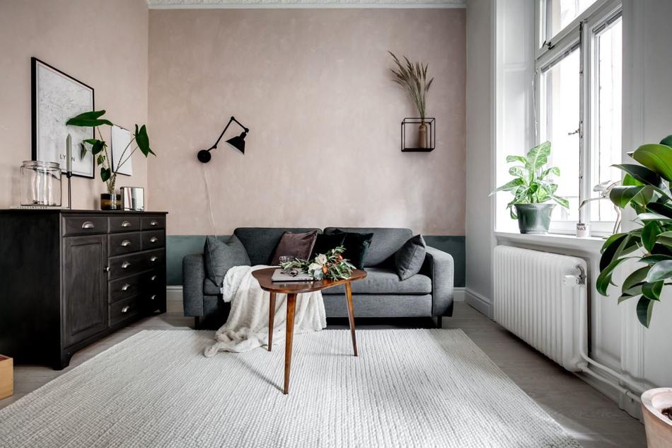 Интерьер скандинавской квартиры 44 кв.