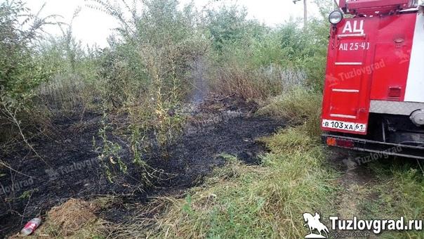 На окраине Новочеркасска произошел ландшафтный пожар