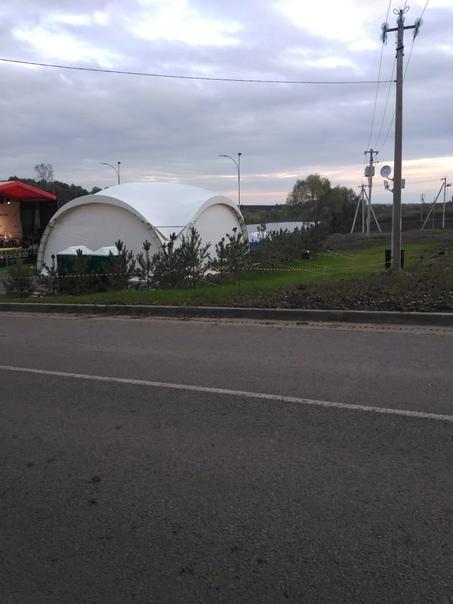 В поселке Пронь Кимовского района, на месте переза...