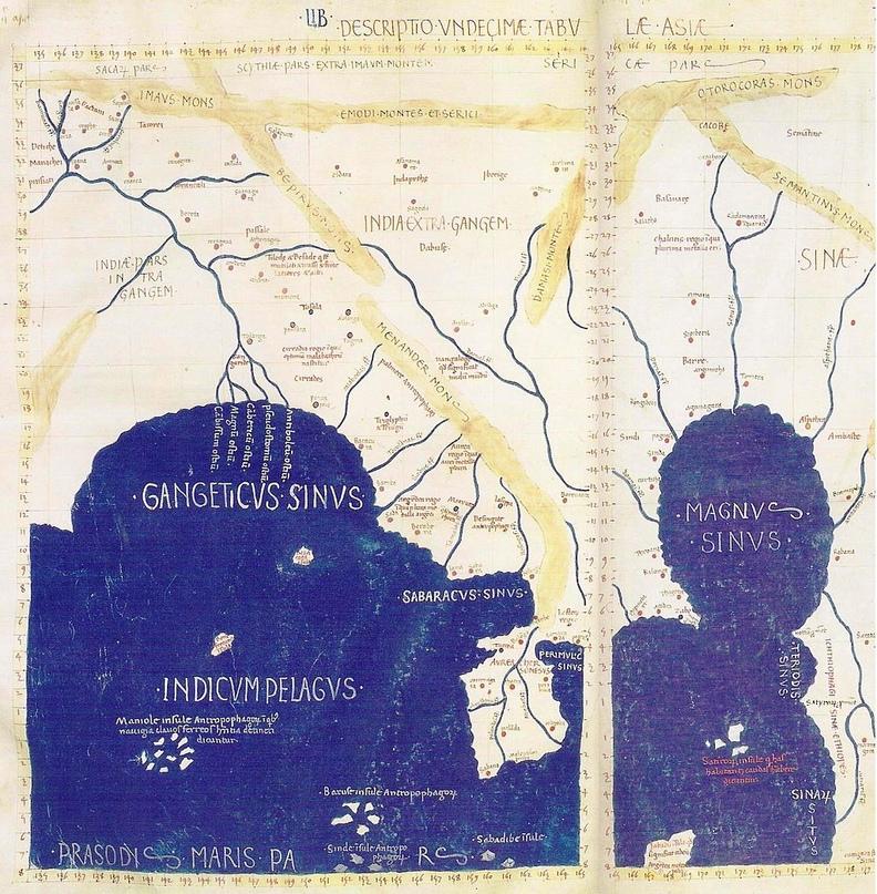 Magnus Sinus на карте Птолемея