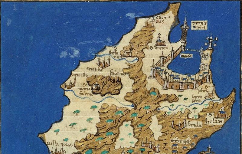 Карта Родоса (1576 г.)