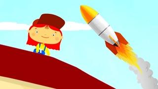 Мультики для детей. Доктор Машинкова запускает ракету в космос